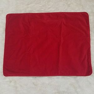 POTTERY BARN standard size red velvet pillow sham